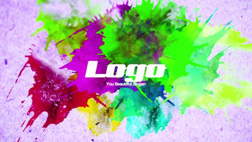 Colorful Paint Logo Reveal Premiere Pro Template