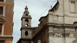 Italy Rome 024 church in Via della Conciliazione street near Vatican Footage