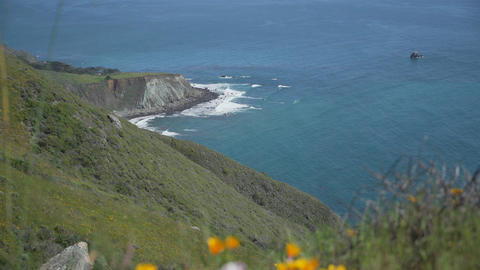 Pacific coast with rugged rocks and coastline Footage