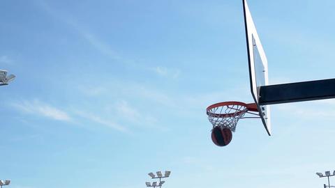 Score basket isolated Footage