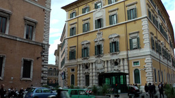 Italy Rome 055 Pastel Colored Residential Building In Old Town stock footage