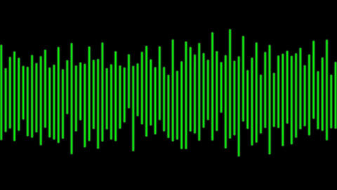 Electronic Digital Audio Wave Form Animation