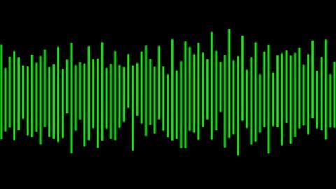Electronic Digital Audio Wave Form Animation