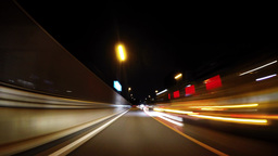 Late-night highway, Timelapse Footage
