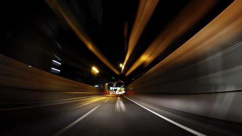 Late-night highway, Timelapse/深夜の高速道路、微速度撮影 Footage