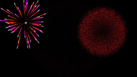 Fireworks alpha transparence background loop vs1 Animation