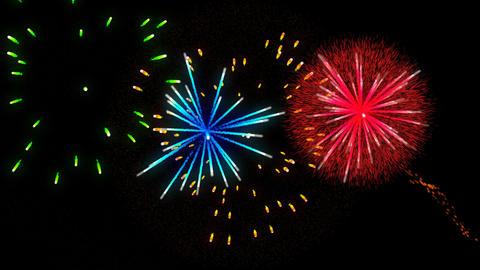 Fireworks transparence background alpha vs3 Animation