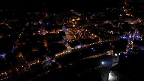 Aerial - Christmas time outdoors Footage
