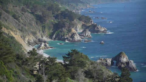 Gorgeous coastline along Big Sur Footage