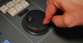 Closeup Shot Editor Controlling Videotape with Jog Shuttle Dial Footage