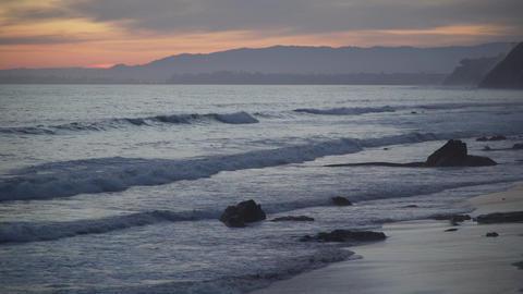 Rocks and waves at the beautiful Mesa Beach Footage