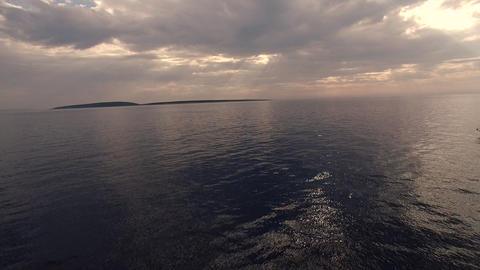 Aerial - Winding Speedboat Ride stock footage