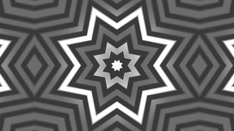Kaleidoscope 2D black/white Stock Video Footage