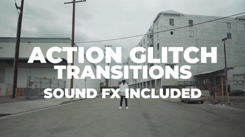 Action Glitch Transitions Premiere Pro Template