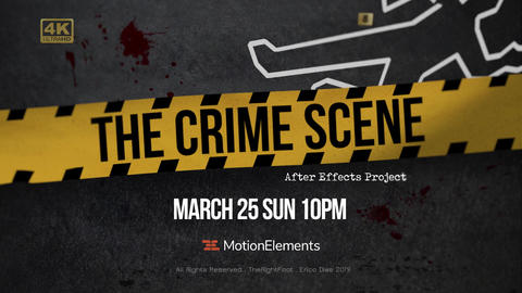The Crime Scene Opener After Effects Template