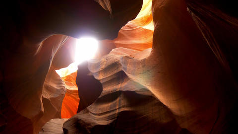 Upper Antelope Canyon in Ariziona Footage