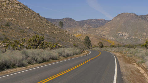Scenic route through the desert at Sequoia in California Live Action