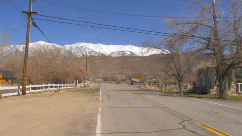 Street view in Benton - a historic small town in the Eastern Sierra Footage