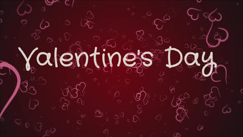 Animation Valentine's day, greeting card Live Action