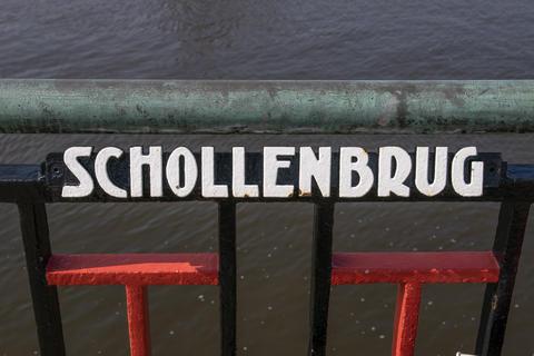 Sign Schollenbrug At Amsterdam The Netherlands 2019 Fotografía
