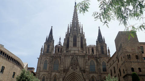 Barcelona's cathedral Footage