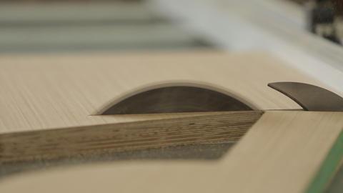 Circular Saw Cutting Wood Footage