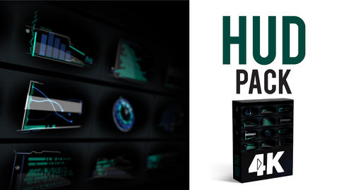HUD Elements Pack 4K After Effects Template