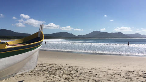 Lonely Boat at Brazil Florianopolis South America Live Action