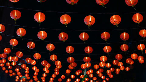 Chinese new year lanterns in china town Footage