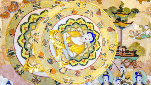 Buddhism Motif Animation Stock Video Footage