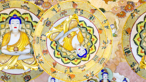 Buddhism Motif Animation Animation