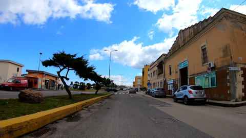 Drive lapse in the village of Porto Torres Live Action