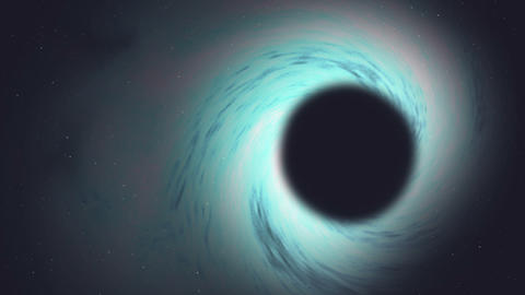 Blue and White Space Black Hole Vortex Animation in 4k Resolution Animation