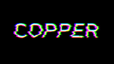 From the Glitch effect arises Element of periodic table COPPER. Then the TV turns off. Alpha channel Animation