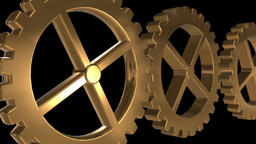 Seamless looping animation of cogwheels or gears Animation