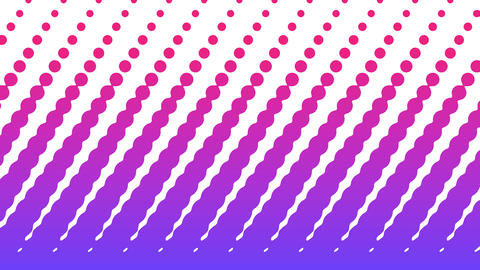 Polka dot pattern animation. Modern geometrical circle. Loop animation Animation