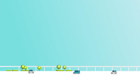 [alt video] Smart city animation with car , train , building and...