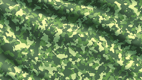 Military war background camouflage khaki fabric texture Footage