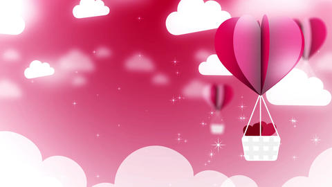 Valentine Ballon Background 01 Animation