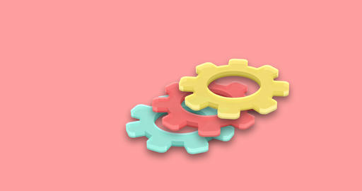 isometric gears motion background Archivo