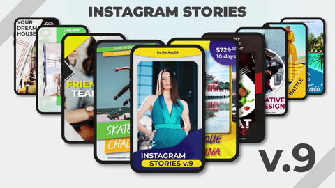 Instagram Stories v 9 After Effects Template