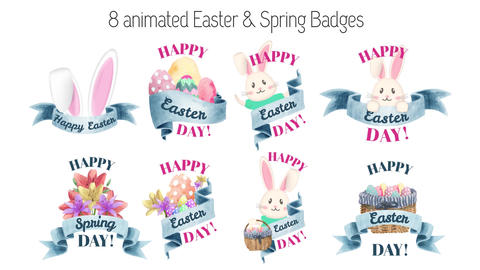 Easter and Spring Badges After Effects Template
