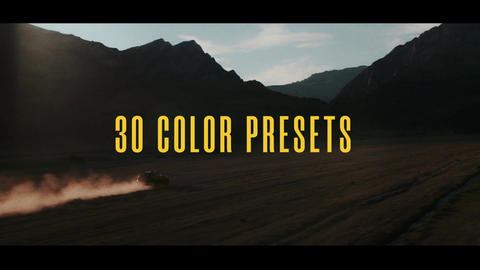 30 Cinematic Color Presets for Premiere Pro Premiere Proテンプレート