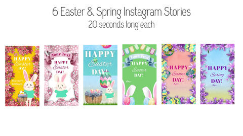 Easter and Spring Stories Plantilla de After Effects