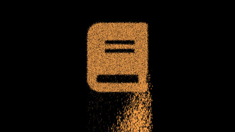 Symbol book appears from crumbling sand. Then crumbles down. Alpha channel Premultiplied - Matted Animation