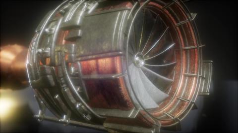 jet engine turbine parts Archivo
