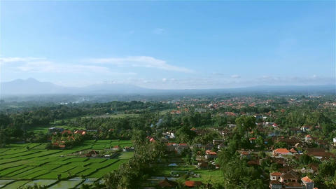 View of Ubud Bali from the sky! Footage