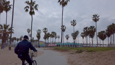 Ocean Front Walk along Venice Beach - LOS ANGELES, USA - APRIL 1, 2019 Footage