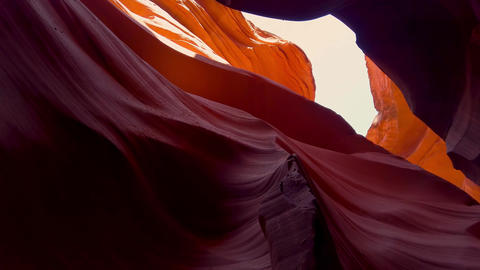 The Colors of the Antelope Canyon in Arizona - travel photography Footage