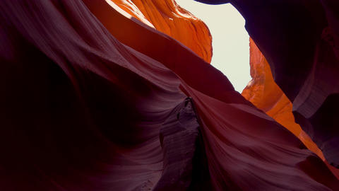 The Colors of the Antelope Canyon in Arizona - travel… Stock Video Footage